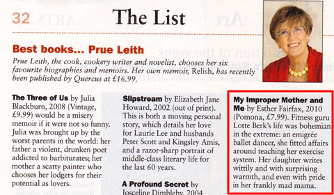 Prue Leith's top books list